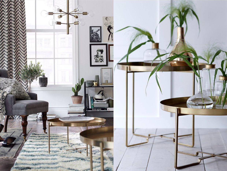 Sofabord som kan klappes sammen fra Ellos Home.