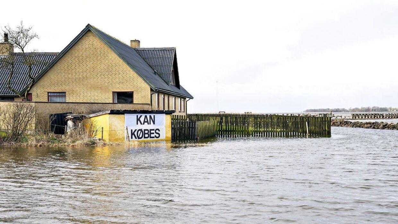 Arkivfoto. De sidste par uger har der været oversvømmelser i hele landet. Her er det ved Limfjorden.