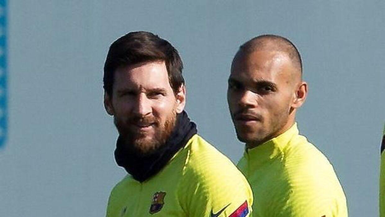 Braithwaite trænede første gang med Messi fredag.
