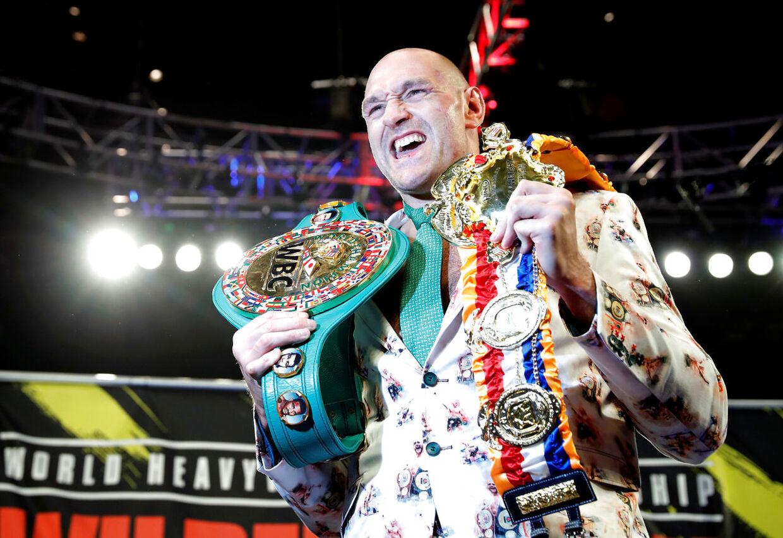 En glad verdensmester, Tyson Fury.