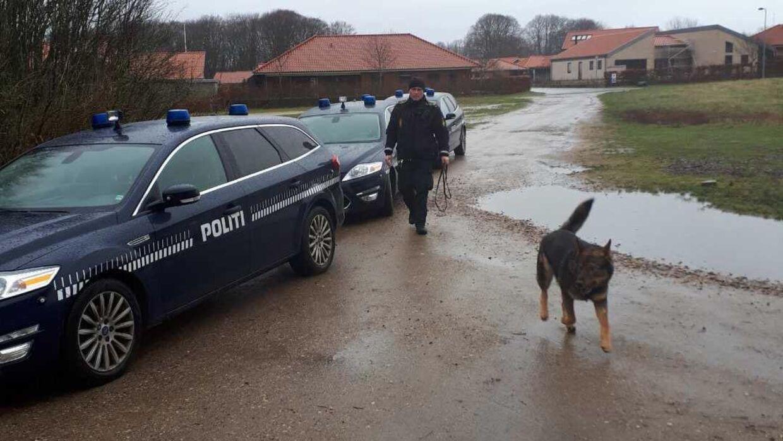 Politiets hundepatruljer ledte søndag efter den forsvundne 62-årige. (Foto: Sydjyllands Politi)