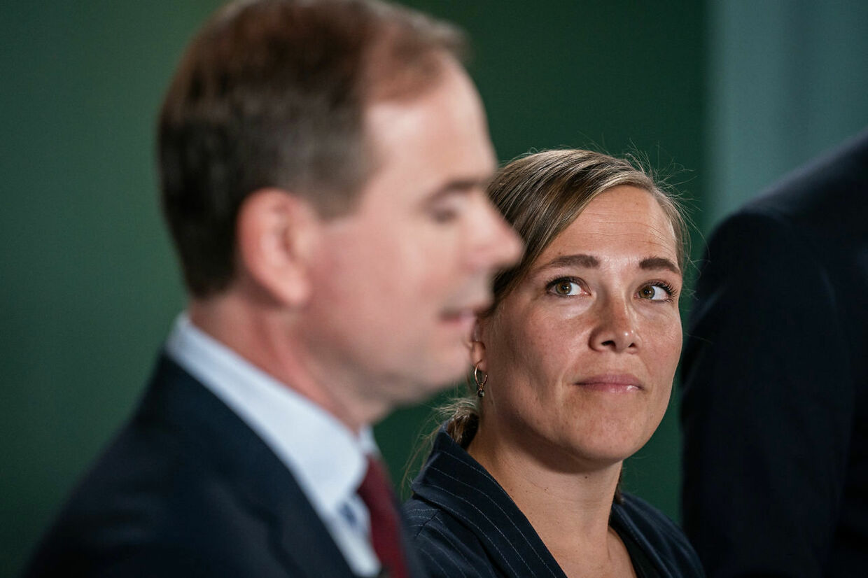 Finansminister Nicolai Wammen og social- og indenrigsminister Astrid Krag leder forhandlingerne for regeringen. (Foto: Niels Christian Vilmann/Ritzau Scanpix)