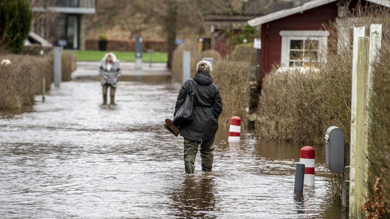 Også i Holstebro by er der problemer med forhøjet vandstand.