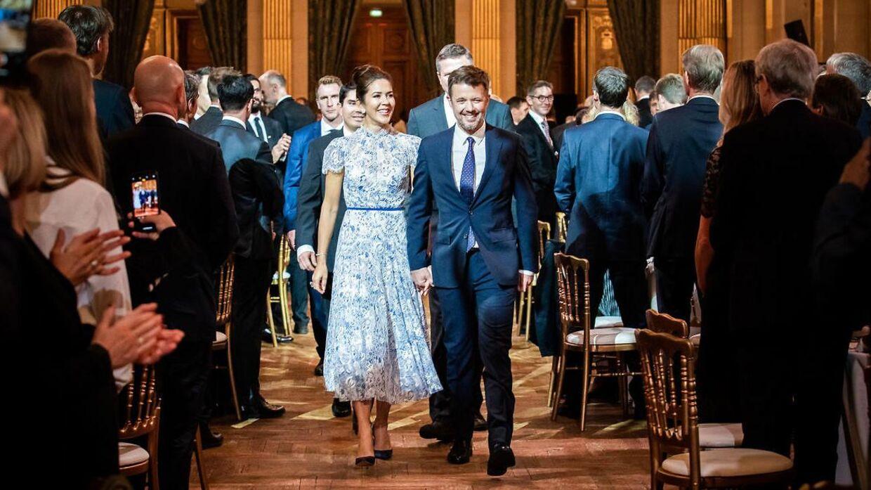 Kronprinsparret chamerede sig gennem Paris i efteråret, hvor de var på et erhvervsfremstød.