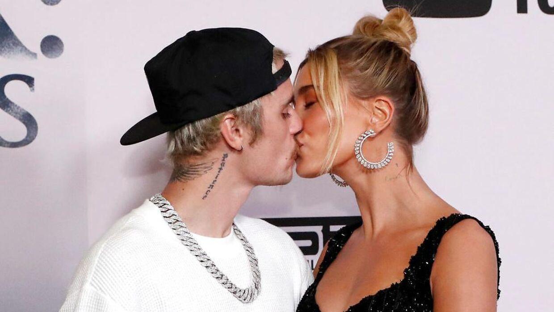 Parret fotograferet i forbindelse med premieren på Justin Biebers Youtube-serie 'Seasons'.
