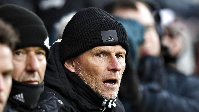 Cheftræner Ståle Solbakken for FCK. Superligaen i fodbold, Silkeborg IF-FC København. Jysk Park i Silkeborg. Søndag 23. februar 2020.