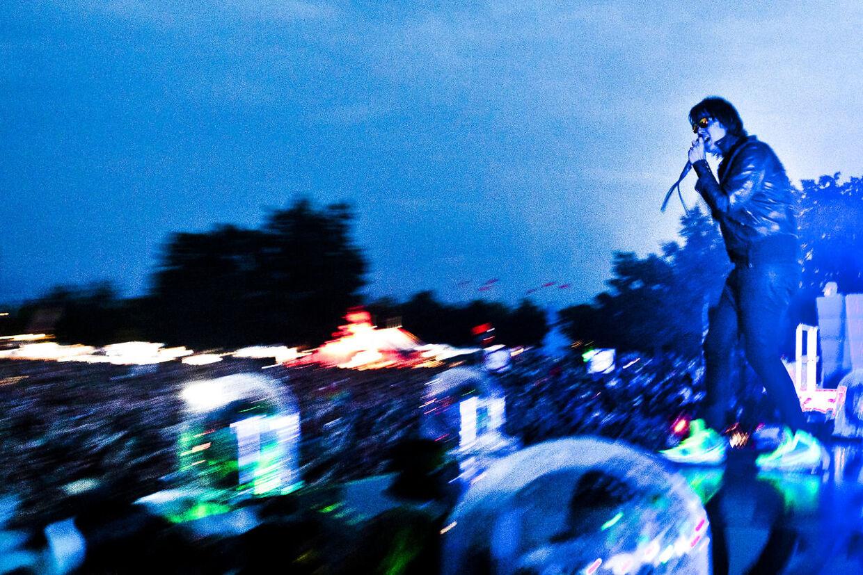 Her ses The Strokes fra deres sidste Roskilde-koncert tilbage i 2011.