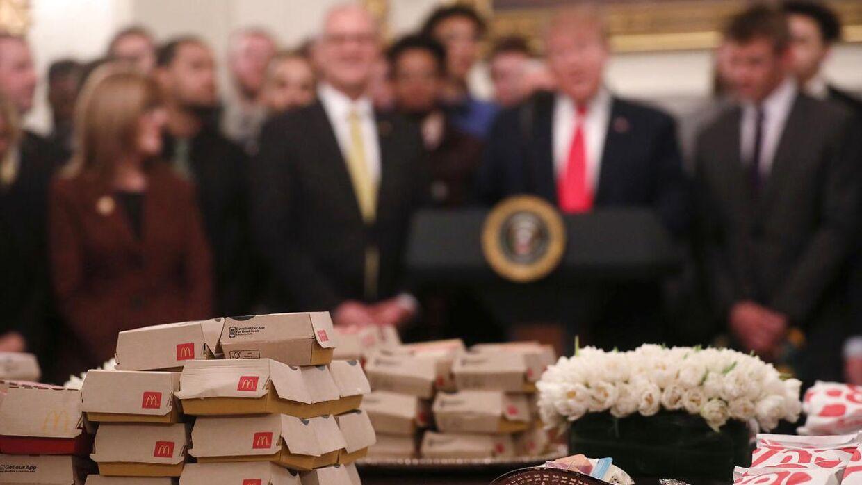 Trumps tidligere læge mislykkedes med at få den junkfoodglade præsident til at tabe sig.