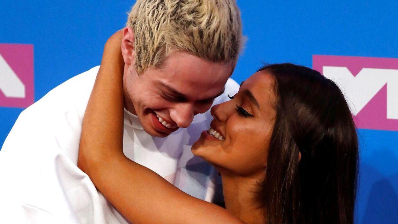 (Arkiv) Pete Davidson og Ariana Grande.