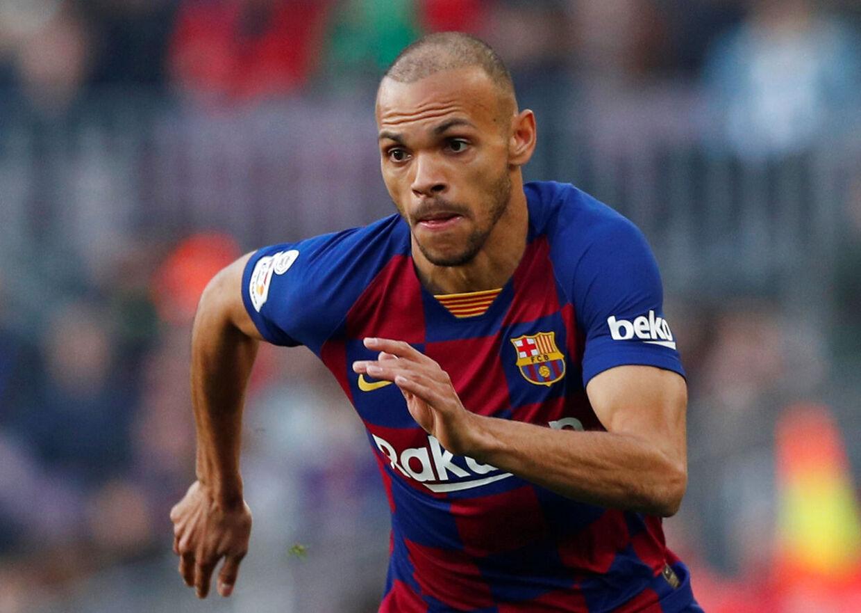 Martin Braithwaite fik i weekenden lyndebut for FC Barcelona.