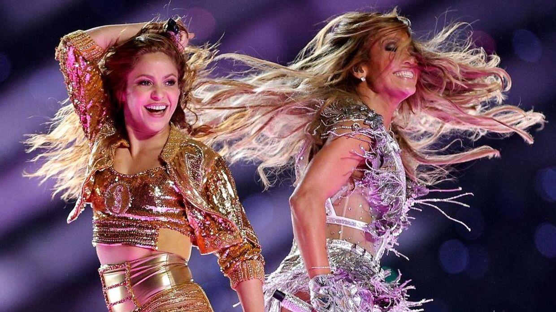 Shakira og Jennifer Lopez.