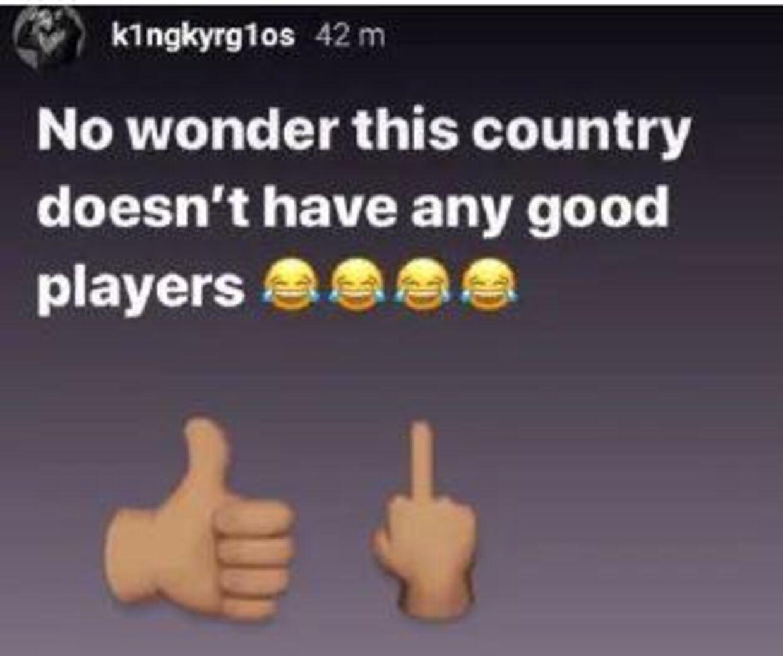 Nick Kyrgios holdt sig ikke tilbage på Instagram.