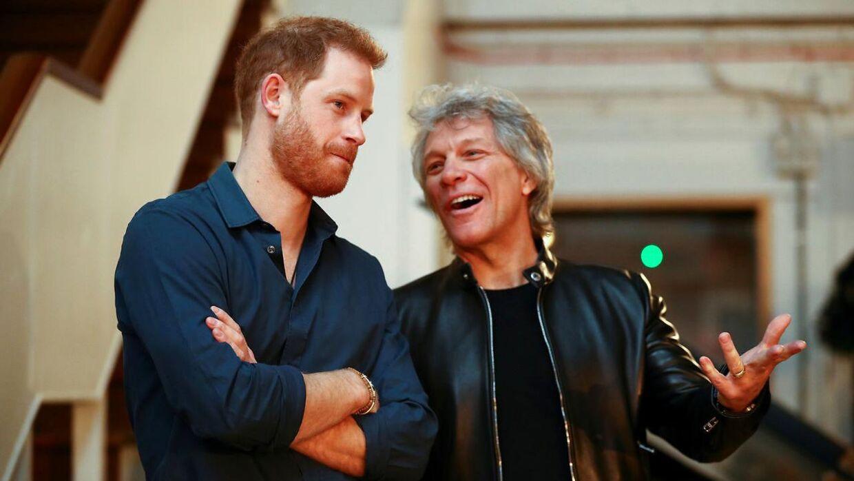 Prins Harry og Jon Bon Jovi mødtes i Abbey Roads Studios.