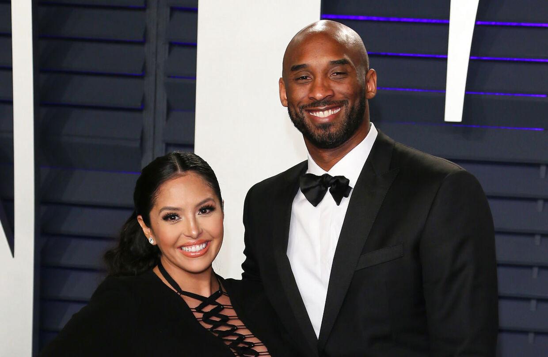 Kobe Bryant med hustruen Vanessa Bryant. Arkivfoto.