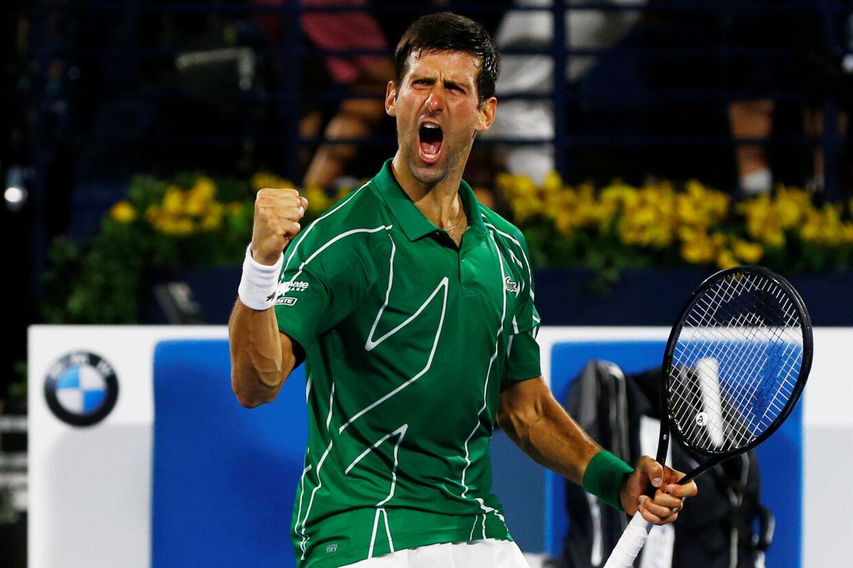 Novak Djokovic brugte fem kvarter på at vinde finalen. Thaier Al-Sudani/Reuters