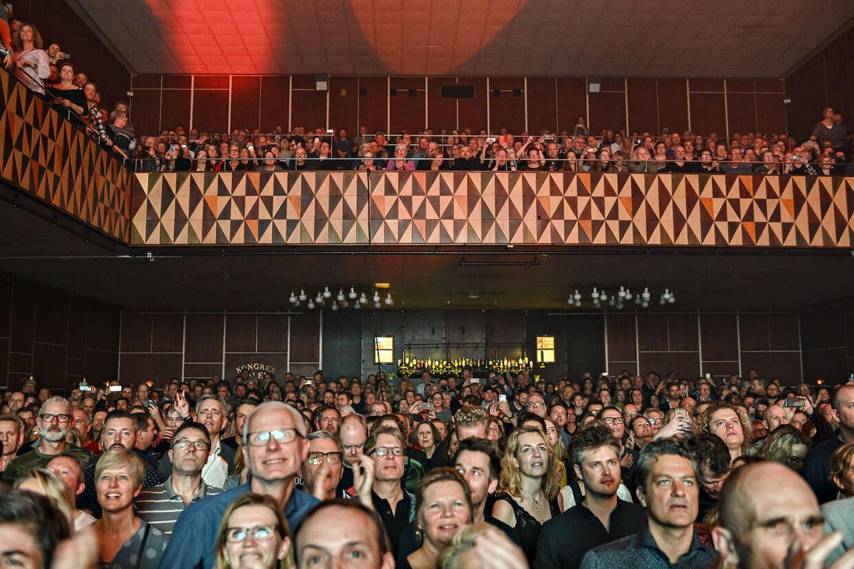 Publikum til det danske rockband MALURT med Michael Falch i front er gendannet, 40 år efter deres debutalbum, og starter deres turné i spillestedet VEGA på Vesterbro i København torsdag den 27. februar 2020.. (Foto: Torben Christensen/Ritzau Scanpix)