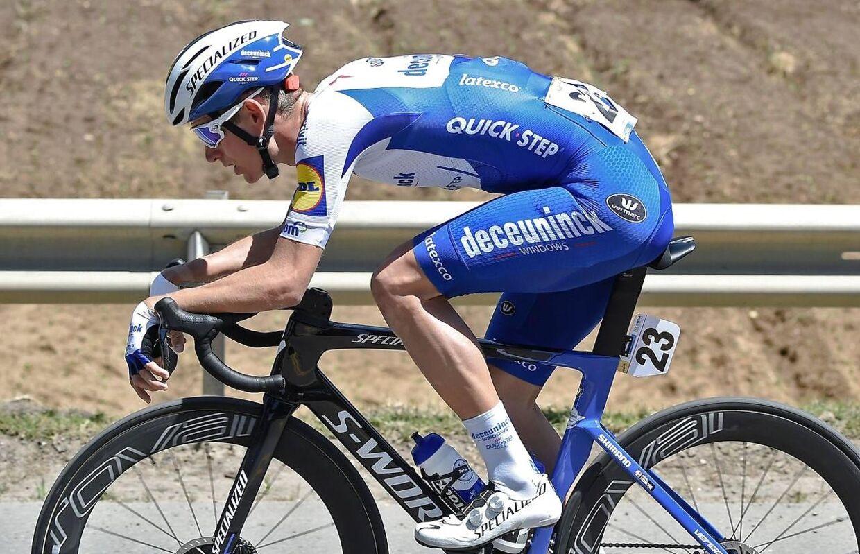 Mikkel Honoré på cyklen i februar.