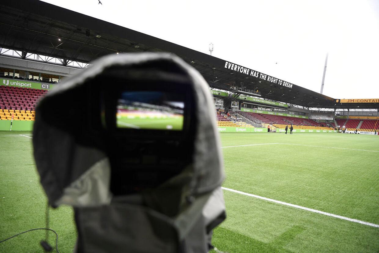 Right to Dream Park i Farum uden tilskuere forud for Superliga opgøret mellem FC Nordsjælland og Brøndby IF søndag den 8. marts 2020. (Foto: Lars Møller/Scanpix 2020)
