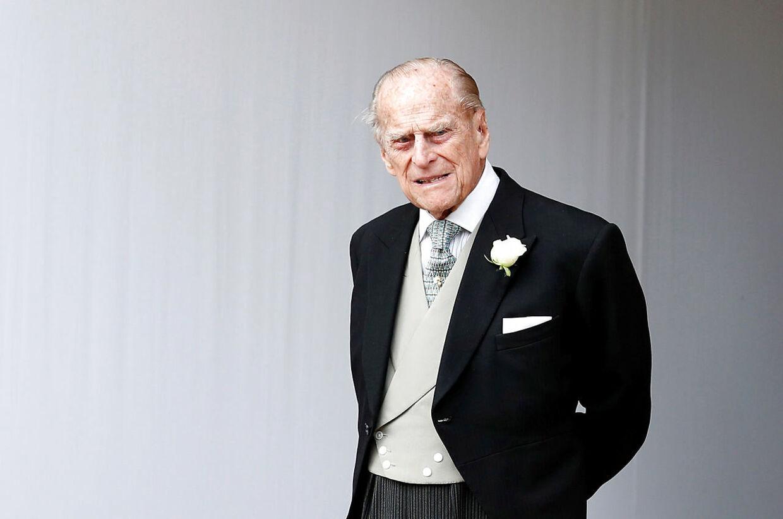 Prins Philip til bryllup i 2018.