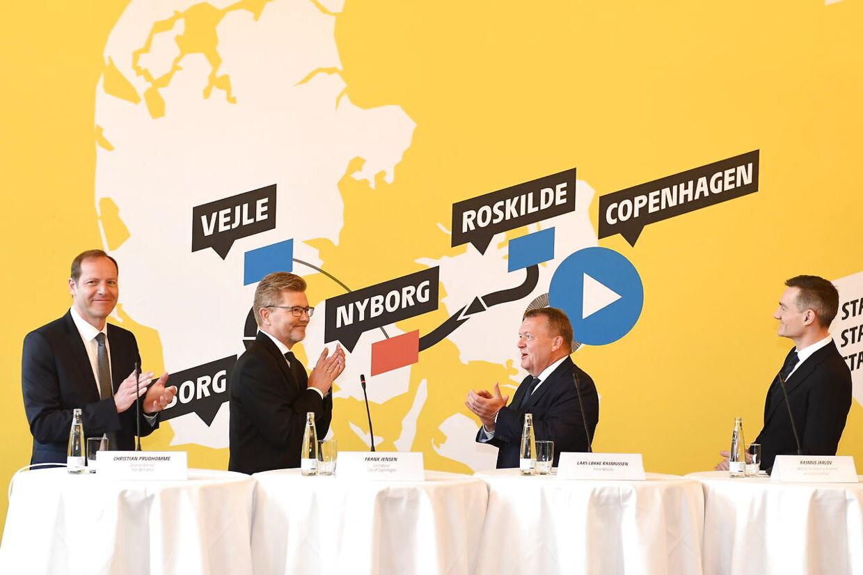 Sådan så det ud, da Tour-starten blev præsenteret i Danmark i 2019.