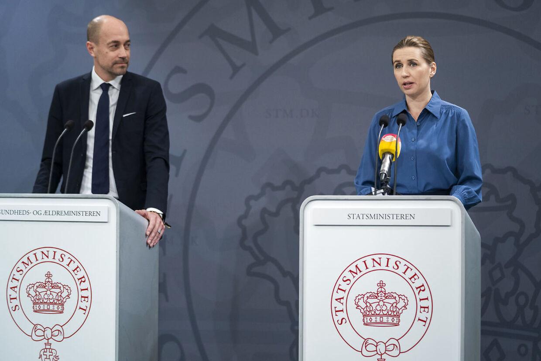 Statsminister Mette Frederiksen og Sundhedsminister Magnus Heunicke.