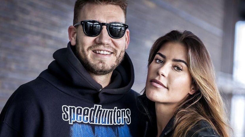 Nicklas Bendtner og Philine Roepstorff om nyt TV program, København onsdag den 11. marts 2020. ** Billederne er klausuleret til torsdag den 12. marts 2020 kl. 8. **. (Foto: Liselotte Sabroe/Ritzau Scanpix)