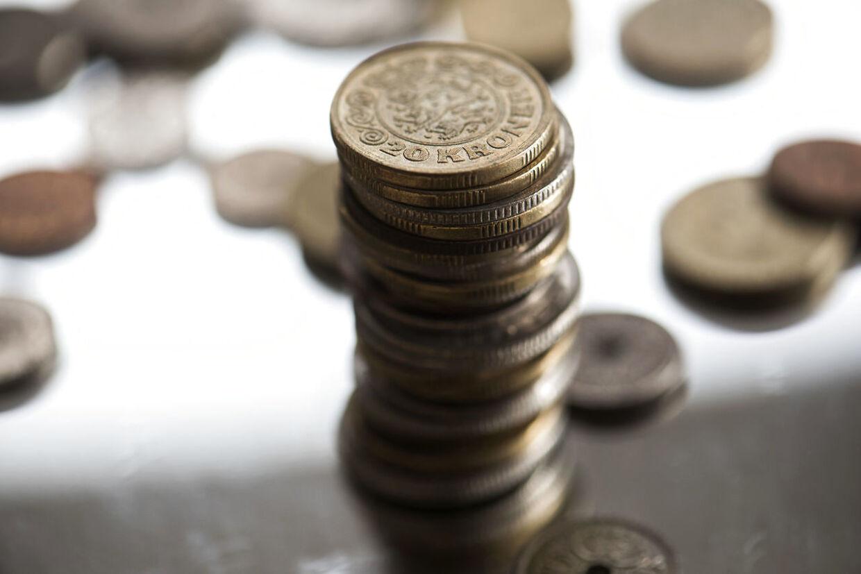 Arkivfoto. Penge, mønter og sedler, torsdag den 5. marts 2020.