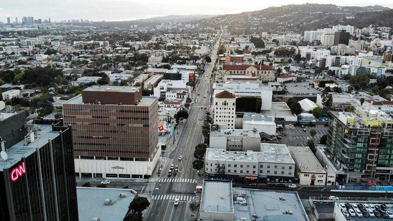 Gaderne er tomme i Los Angeles i USA.