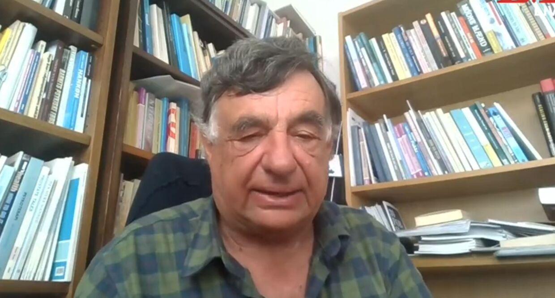 Svend Aage Madsen var med på en video-forbindelse fra sit hjemmekontor.