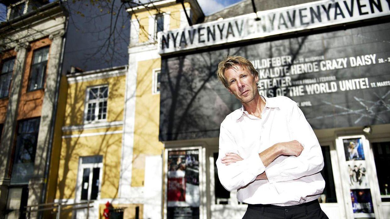 Jon Stephensen ved Aveny-T. Foto fra 2011, da Jon tiltrådte som teaterchef.