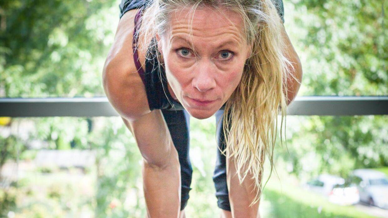 Sådan ser Trine Skjoldan Nielsen ud under et træningspas.