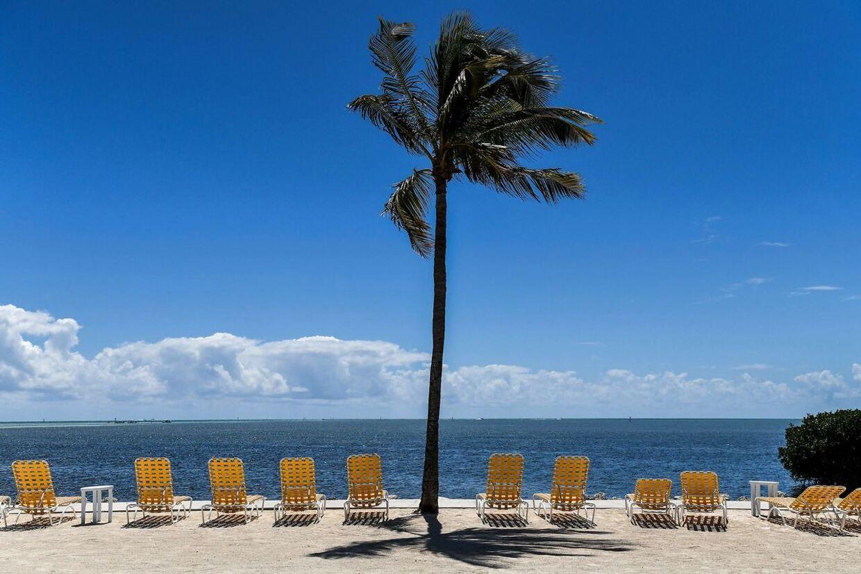 Tomme strande i Floridas Key West. Normalt én af USAs travleste turistmagneter.
