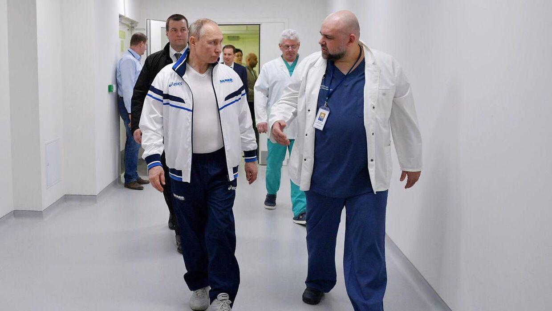 Vladimir Putin og Denis Protsenko.
