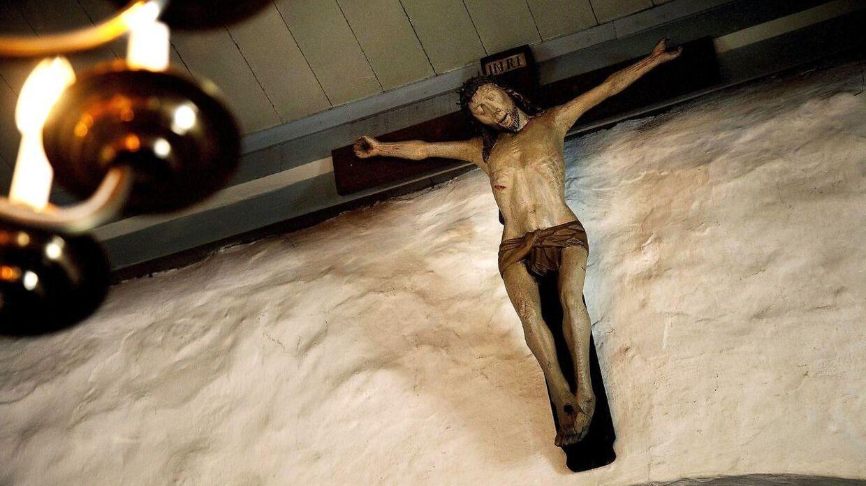 Jesus på korset. Arkivfoto.