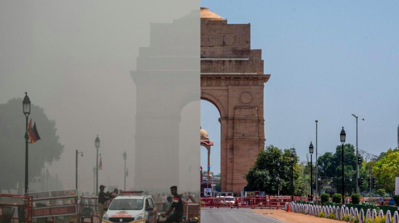 Stor forskel i luften, efter man i Indien har lukket landet mere eller mindre ned