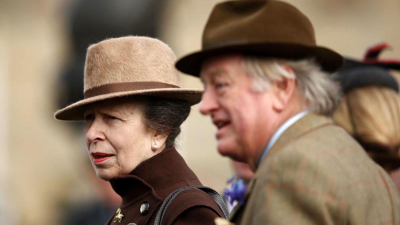 Andrew Parker Bowles i selskab med prinsesse Anne under festivalen.