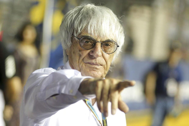 Bernie Ecclestone i 2014 ved Grand Prix'et i Singapore.