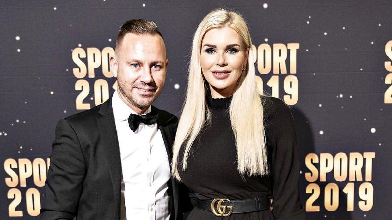 Nicki Pedersen med kæresten ses her til Sports Galla 2019. (Foto: Henning Bagger/Ritzau Scanpix)