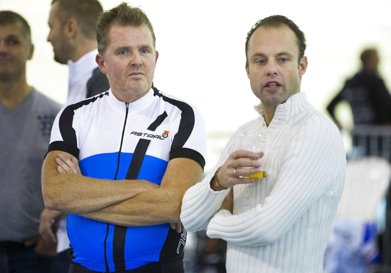 Rolf Sørensen og Bo Hamburger (th.) i Ballerup Super Arena.
