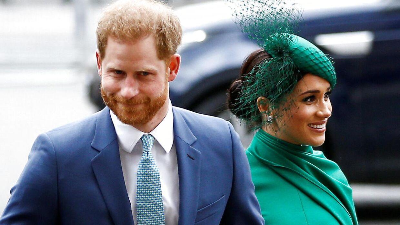 Prins Harry og hertuginde Meghan fotograferet i starten af marts.