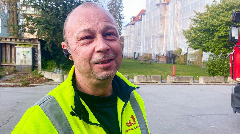 Lars Skipper fortæller om jobbet som chauffør af klinisk affald. Video: Mathias Røn Poulsen