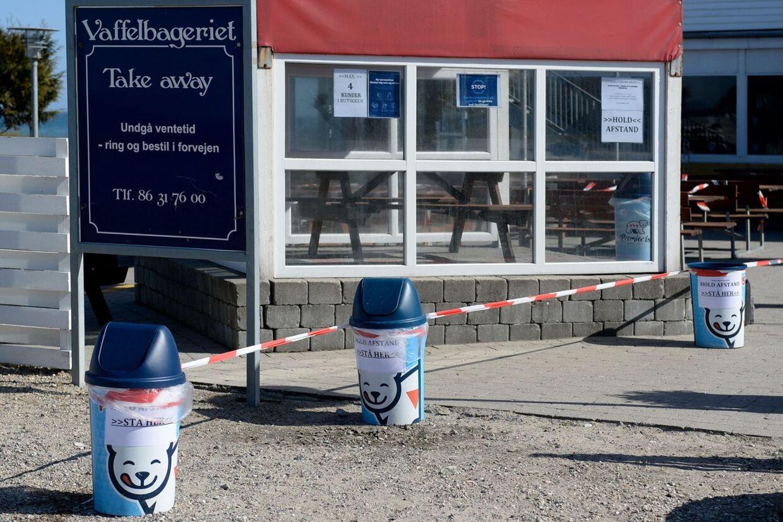 Fjellerup Vaffelbageri på Norddjurs har modtaget trusler for at holde åbent, imens store dele af samdundet er lukket ned. Foto: Fjellerup Vaffelbageri/Facebook