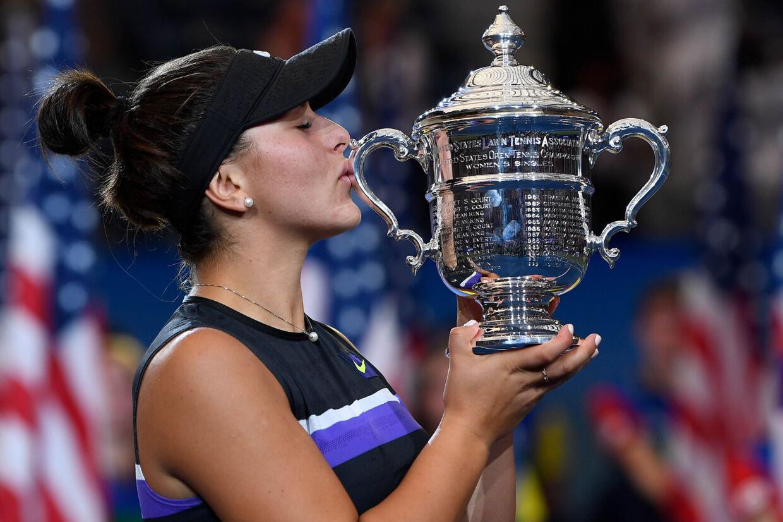 Canadieren Bianca Andreescu vandt sidste år US Open i damesingle. Robert Deutsch/Ritzau Scanpix