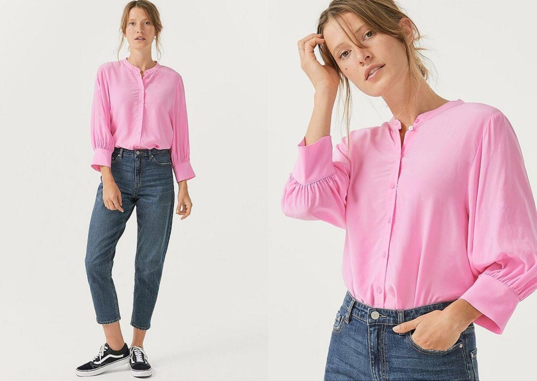 Joelle Bluse i modefarven pink fra Ellos.dk