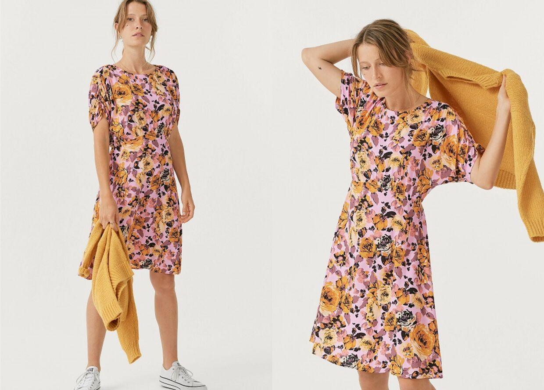 Joelle kjole med blomster fra Ellos.dk