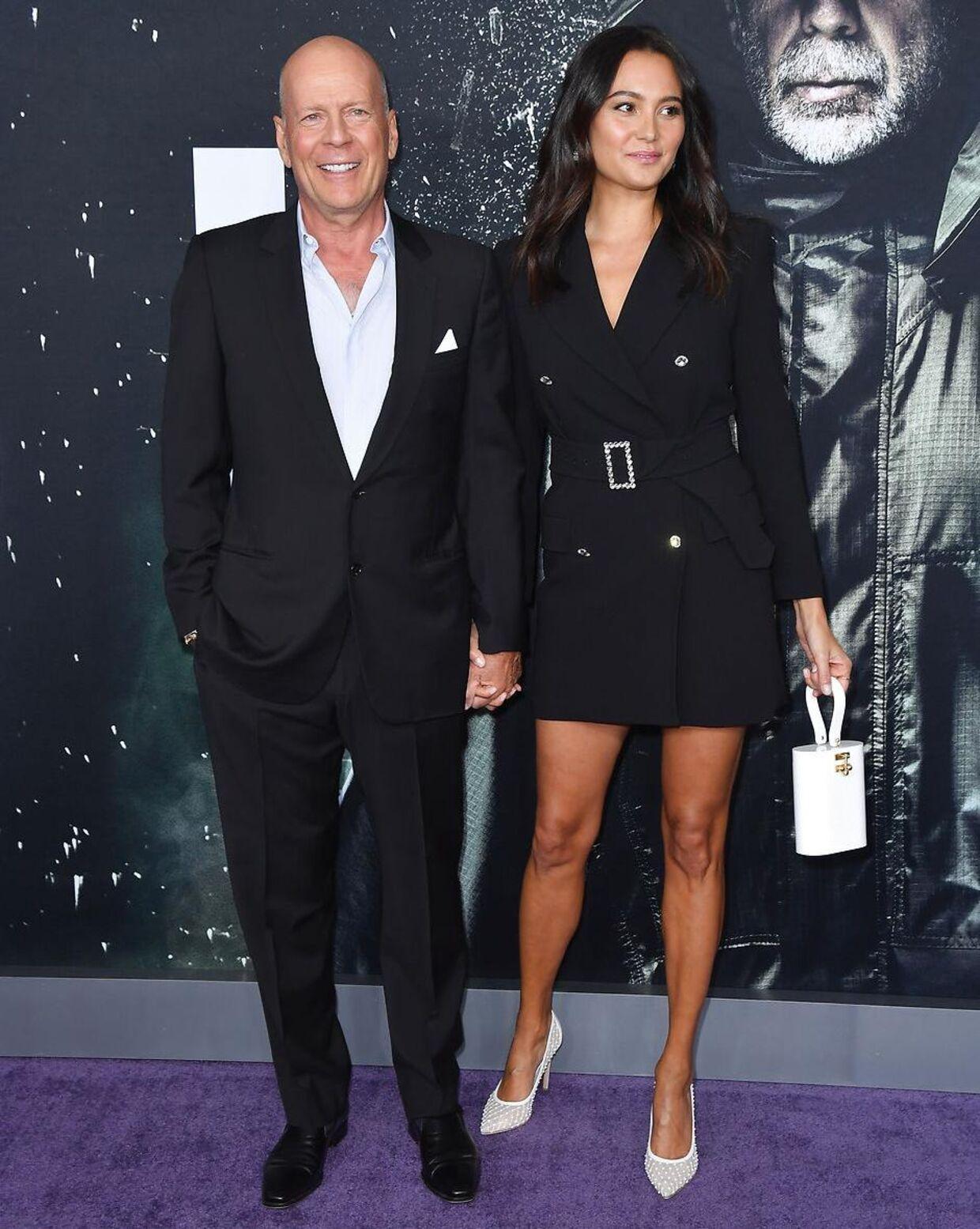 Bruce Willis med sin hustru, den engelske model Emma Heming.