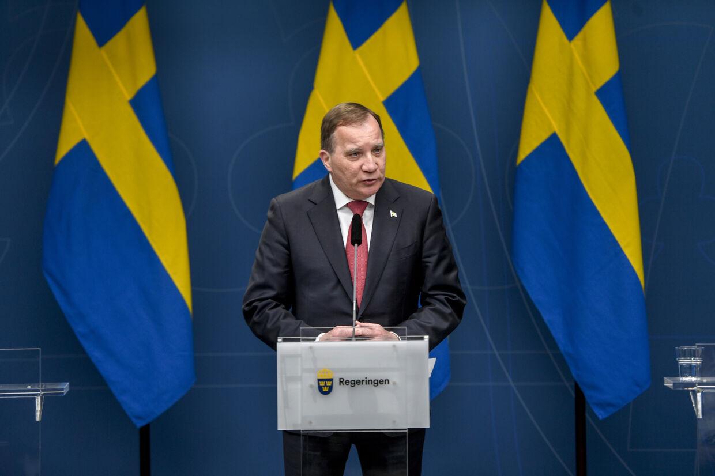 Stefan Löfven fastholder, at den svenske coronastrategi er den rigtige for landet. 11950 Ali Lorestani/Tt/Ritzau Scanpix