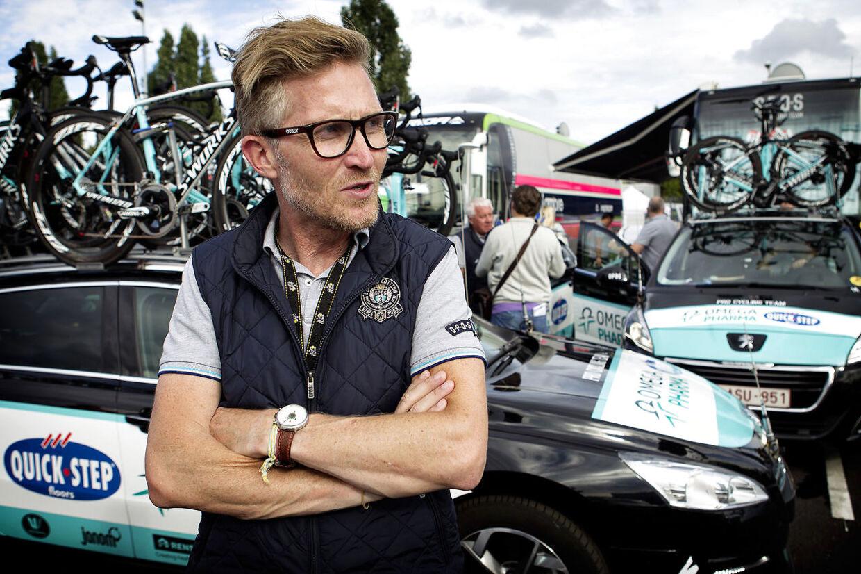 Brian Holm under 9. etape af Tour de France i 2014.