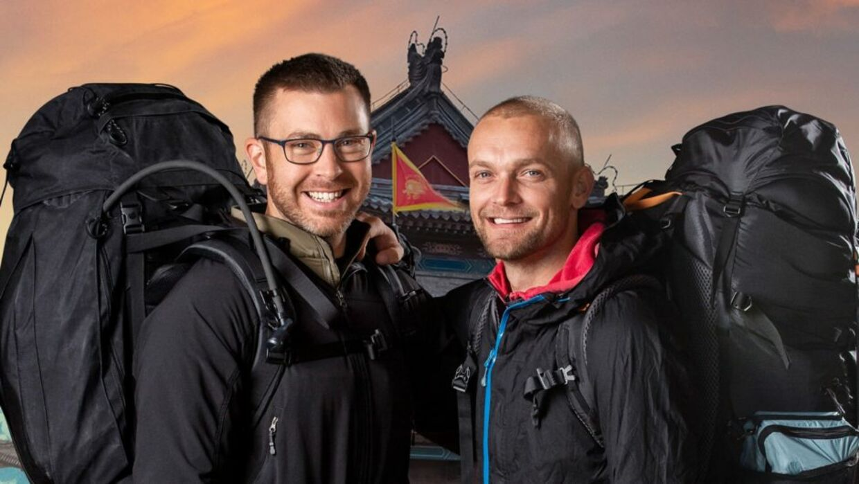 Fra venstre: Kim og Carsten i 'Først til verdens ende'.