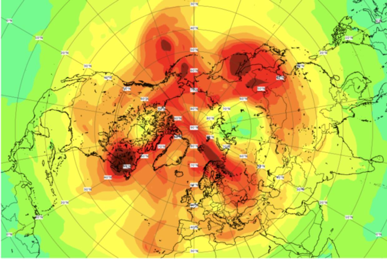 Ozonhullet var det største af sin art, der nogensinde er blevet observeret over Arktis.